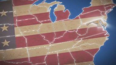 Maryland on USA map — Stock Video