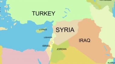 Syria map — Stock Video