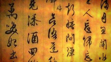 Das alte japan-symbol — Stockvideo