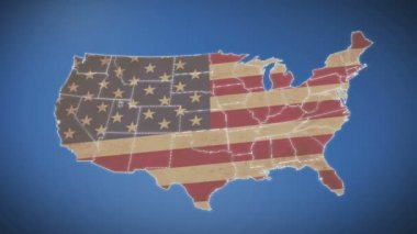 Unites States of America Map — Stock Video