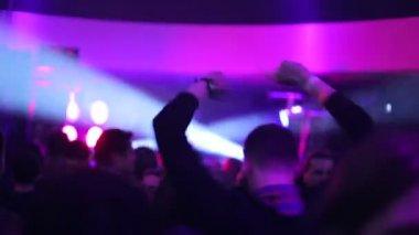 People on the dance floor in night club — 图库视频影像