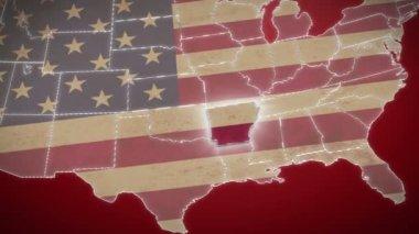 Arkansas on USA map — Stock Video