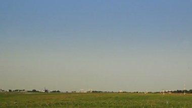 Airplane landed — Stockvideo