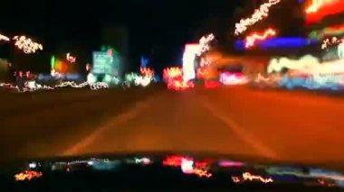 晚上车驱动器 — 图库视频影像