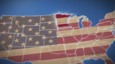 Minnesota on USA map — Wideo stockowe
