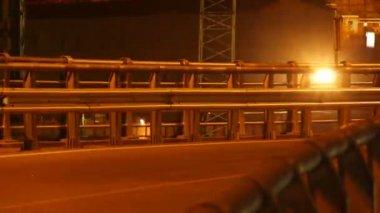 Night car traffic — Stock Video