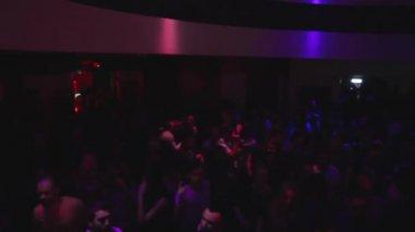 Dancing people at rock concert — Stock Video