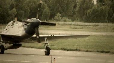 Vintage American air plane — Stock Video