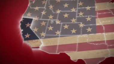 California on USA map — Stock Video