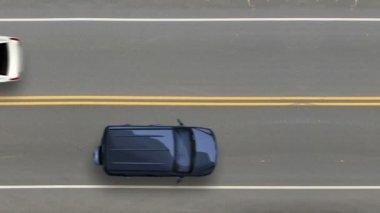 Auto nehoda: pohled shora — Stock video