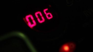 Digital timer countdown — Stock Video
