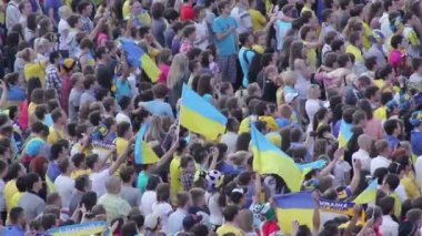 People at sporting event — Vídeo Stock