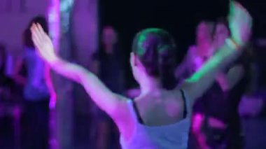 Woman dancing in strobe light — Vídeo de Stock