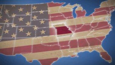 Missouri on USA map — Stock Video