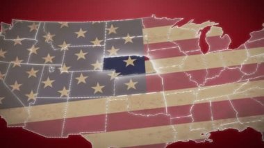 Nebraska on USA map — Stock Video