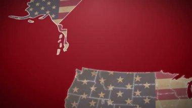 USA map with Alaska — Stock Video