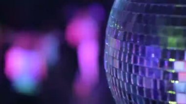 Disco ball in strobe lights — Stock Video