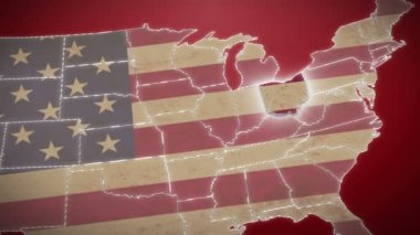 Ohio on USA map — Stock Video