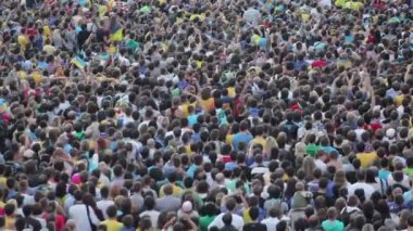 Crowd of football fans — Wideo stockowe