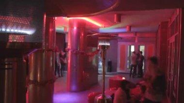 Restaurant lounge zone timelapse — Stock Video