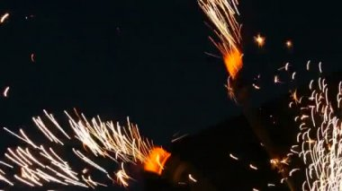 Sparks from fireshow — Stock Video