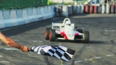 Formula 1 F1 finishing — 图库视频影像