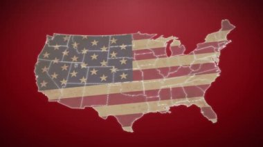 Separated United States map — Stock Video