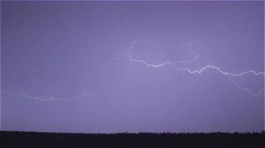 Thunder and lightning — Stock Video