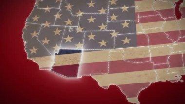 Arizona on USA map — Stock Video