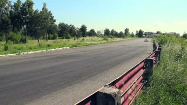 Racing cars turn — Stock Video
