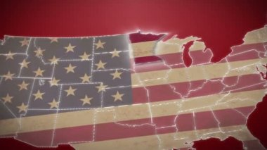 Minnesota on USA map — Stock Video