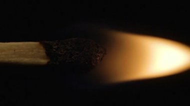Vertical burning match — Stock Video