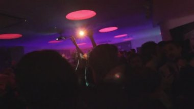 Young men and women partying — Stock Video