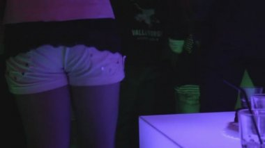 Girl on the dance floor — Stock Video