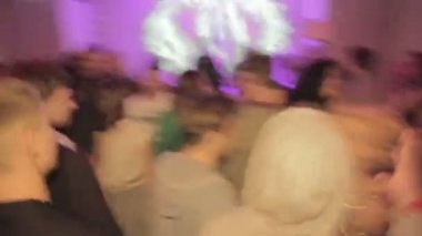 Clubbers enjoying party — Stock Video