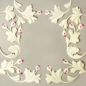 Floral paper frame — Stock Photo