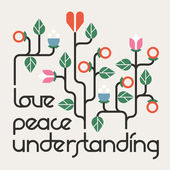 Peace, Love and Understanding — Stock Vector