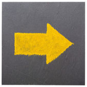 A yellow arrow — Stock Photo