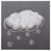 A cloud with snowflakes — Stock Photo
