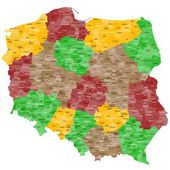 Map of Poland. — Stock Vector