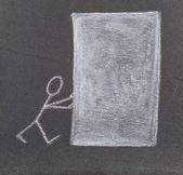 Un bloc blanc. — Photo
