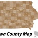 Iowa County map — Stock Vector #45151521