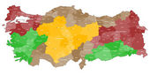 Map of Turkey — Stock Vector