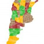 Постер, плакат: Map of Argentina