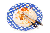 Dirty plate — Stock Photo