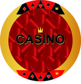 Icon casino — Stock Vector