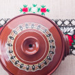 Traditional Romanian ceramic pot — Stock Photo #48138963