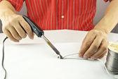 Repair usb cable — Foto Stock