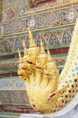 Five naga head in the Temple of the Emerald Buddha — Stock Photo