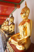 Golden Buddha in Wat Pho Thailand — Stock Photo